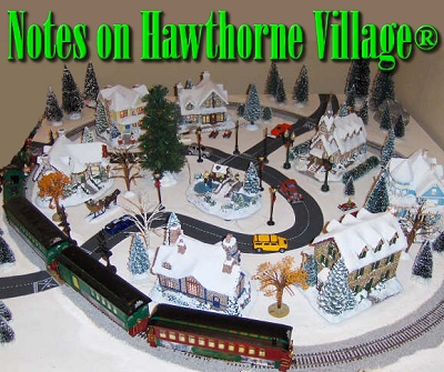 Christmas Village Train Set.Notes On Hawthorne Village From Family Christmas Online