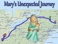 Click to learn about our nativity Mary's unscheduled field trip to Dayton, Ohio, on the way to our home.