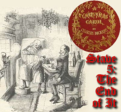 scrooge surprises his clerk bob cratchit with his new found good humor and compassion - A Christmas Carol Full Text