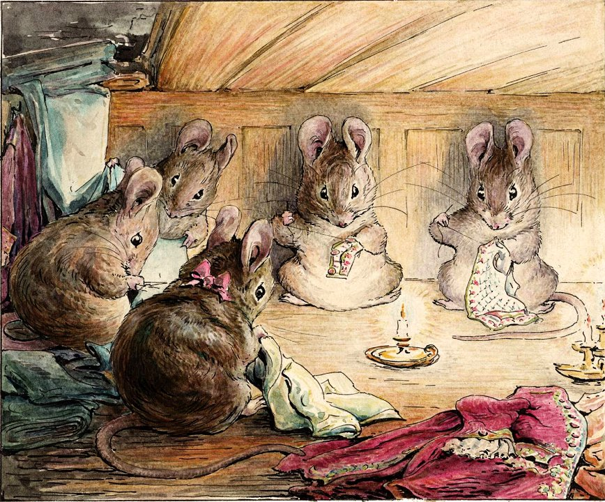 Image result for beatrix potter bunnies stitching
