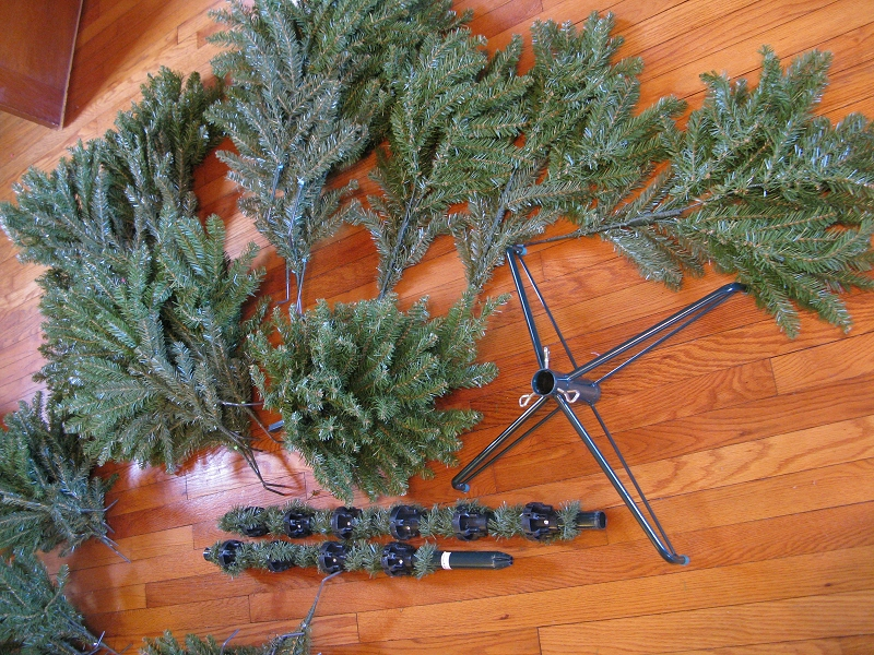 Set Up Artificial Christmas Tree